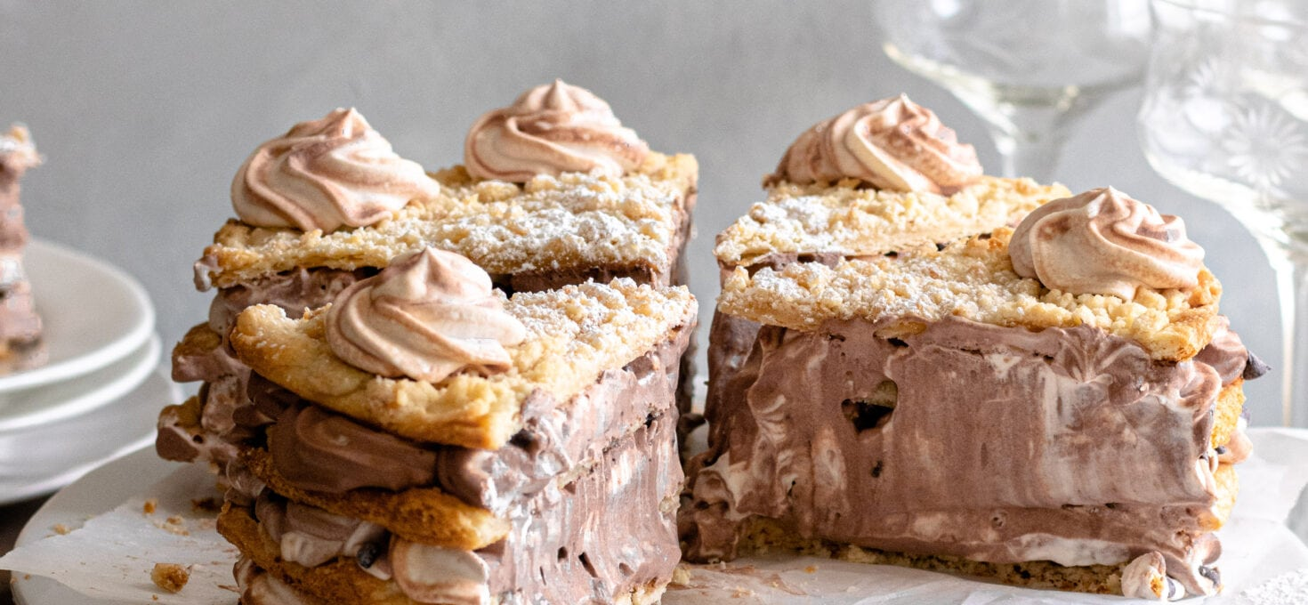 Chocolate Whipped Cream Blättertorte