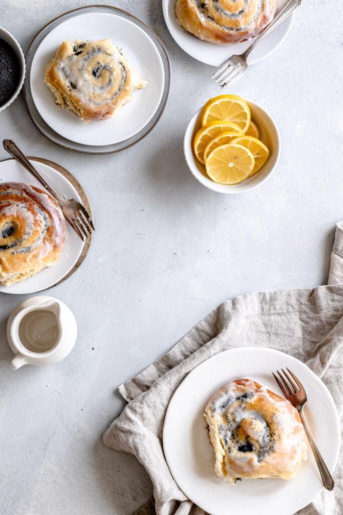 Image of lemon poppy seed buns.