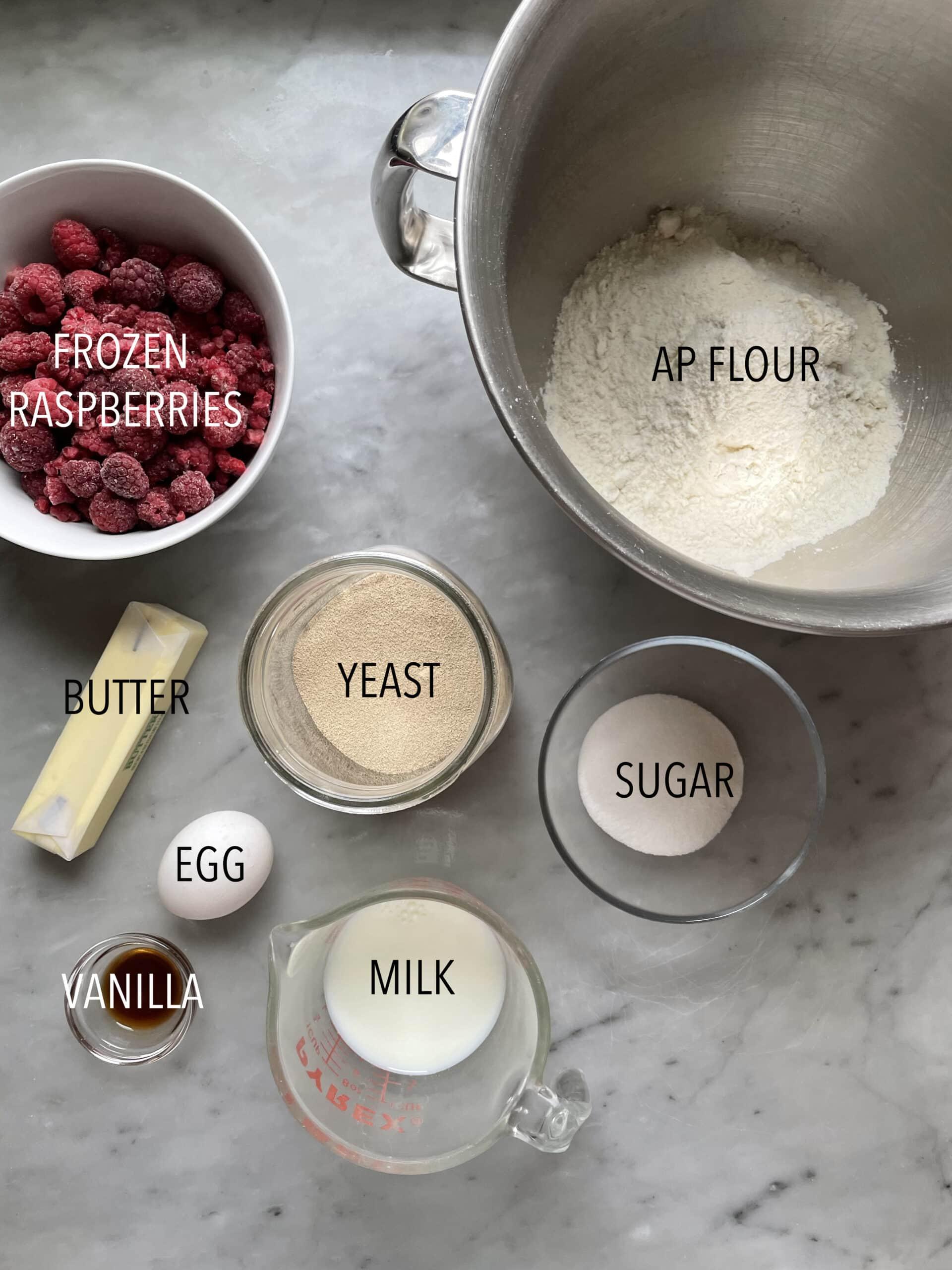 Image of himbeer schnecken ingredients