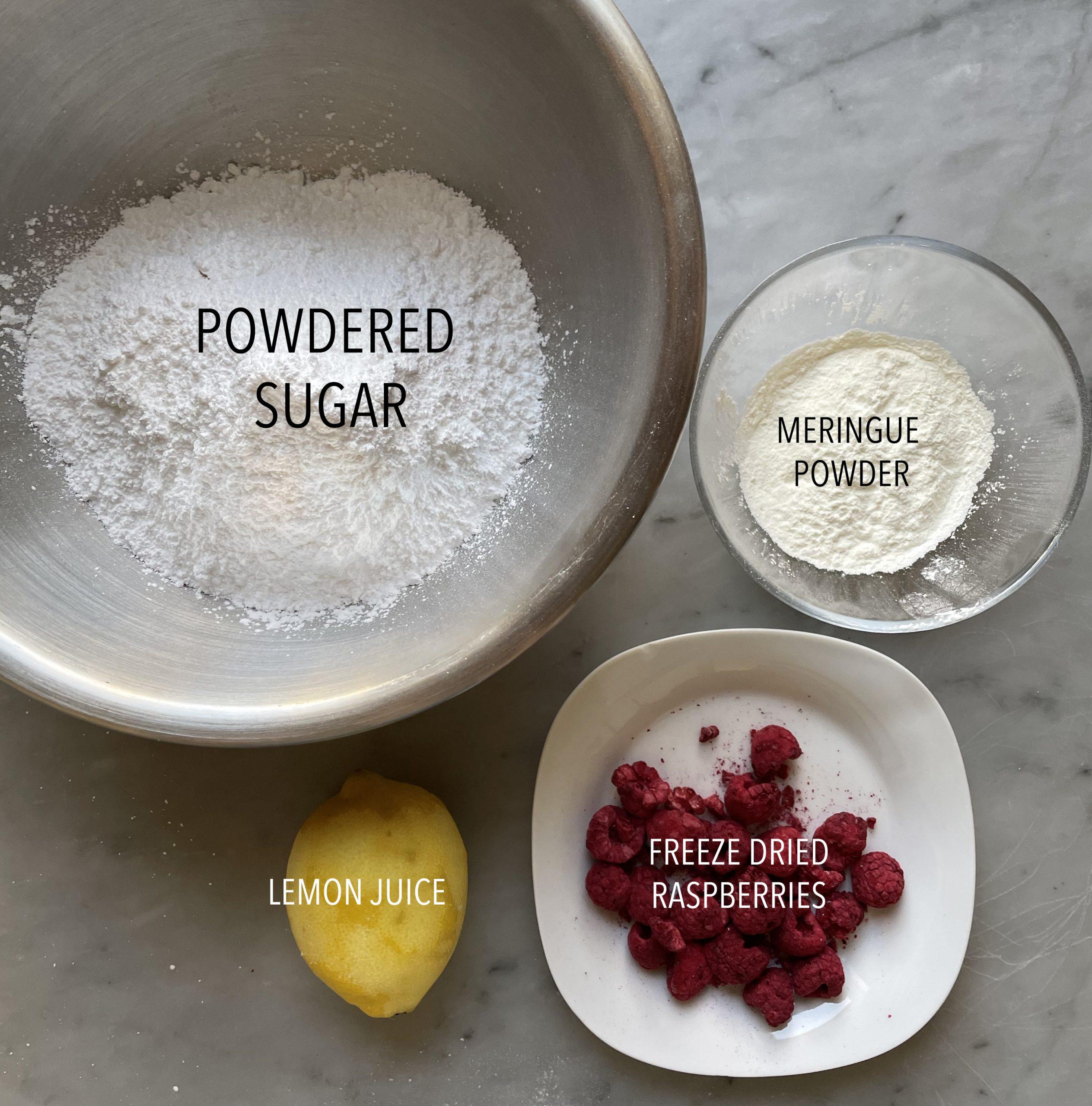 Image of Lemon Cookie decoration ingredients