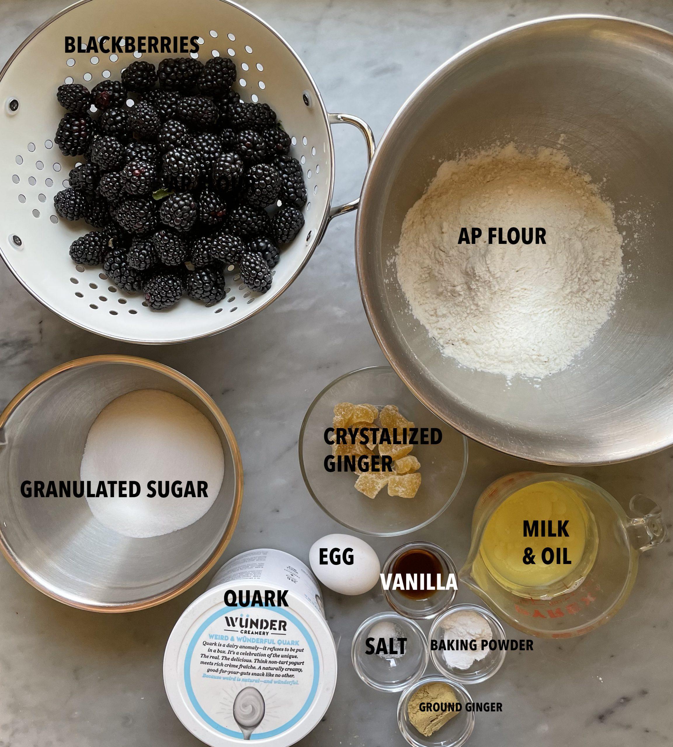Image of Blackberry Ginger Streusel kuchen