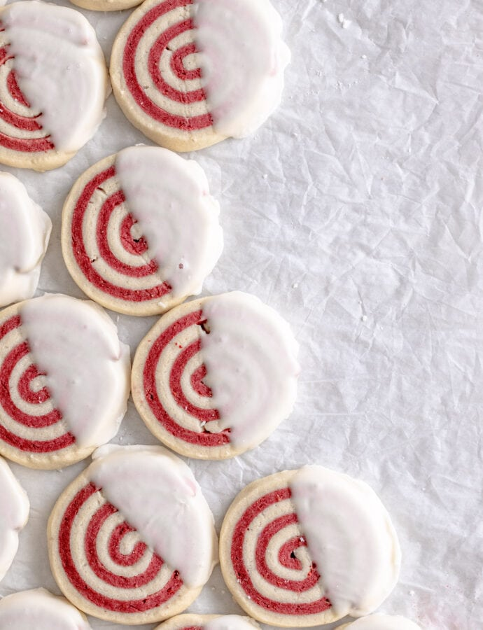 Strawberry Pinwheel Cookies
