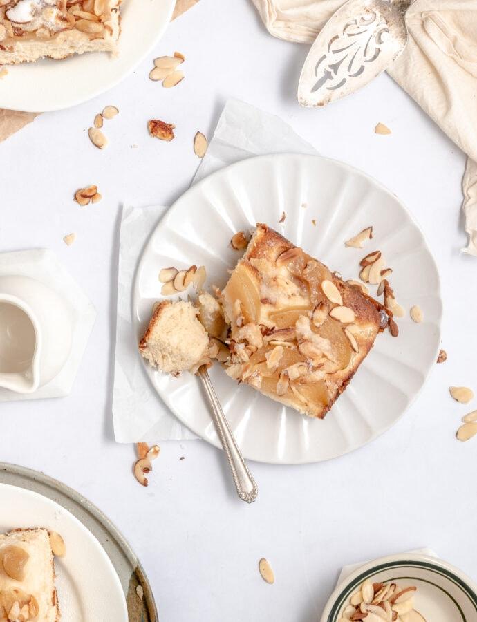 Almond Pear Butterkuchen
