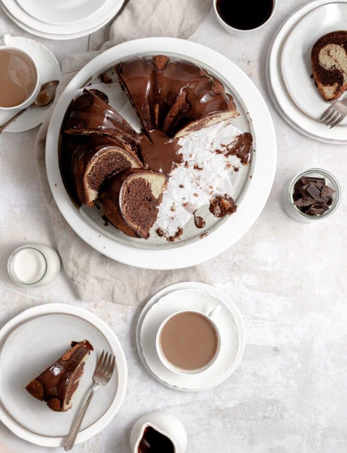 Marmorkuchen – German Marble Bundt Cake