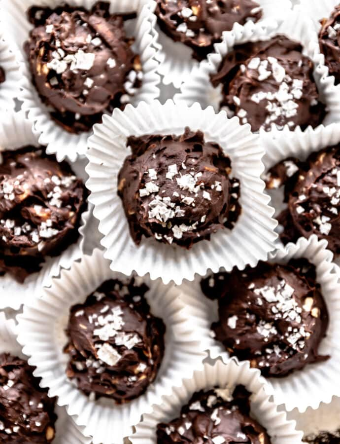 Chocolate Cherry Truffles with Almonds