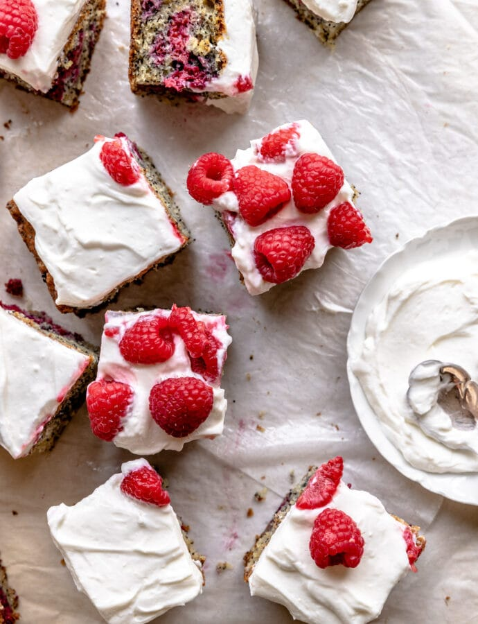 Simple Raspberry Snack Cake Recipe