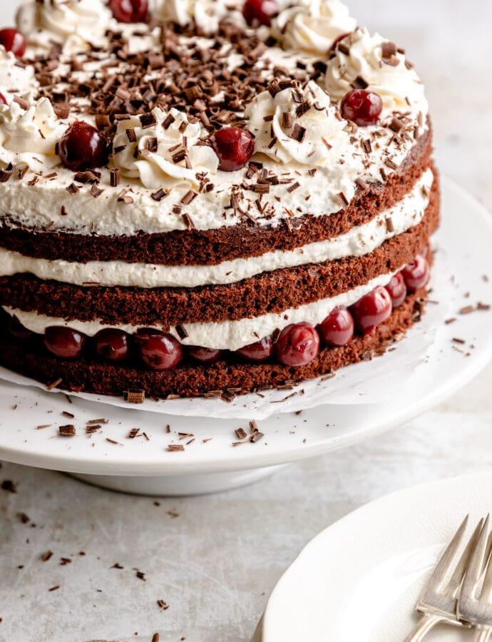 Schwarzwälder Kirschtorte | Black Forest Cherry Cake