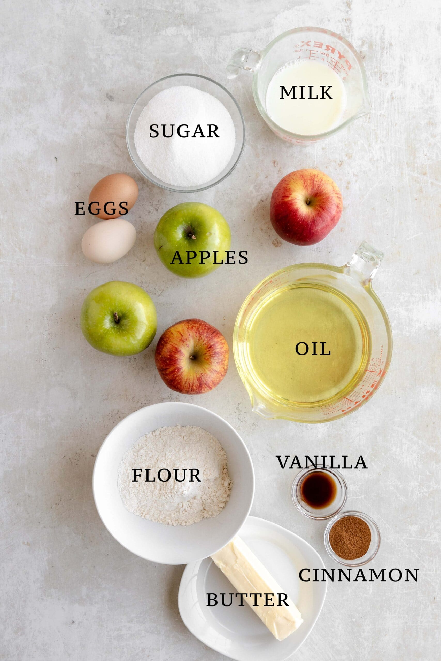 Ingredients needed for Apfel Ringe